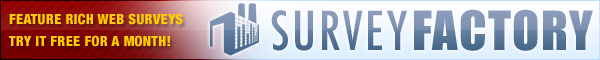 SurveyFactory - Create and publish online web surveys